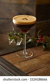 Espresso Martini Cocktail at Christmas