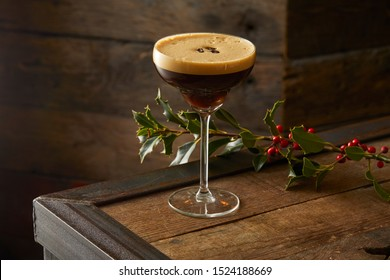 Espresso Martini Cocktail at Christmas