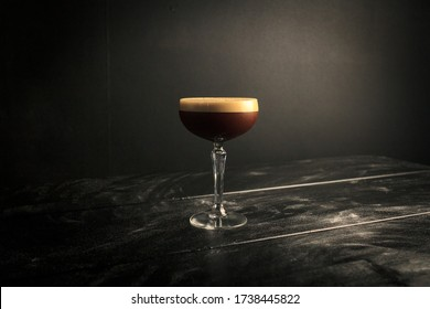 Espresso Martini in a Professional Photography Backdrop