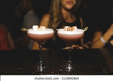 Espresso martinis served at a bar