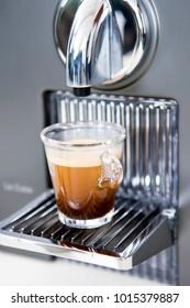 espresso on coffee maker