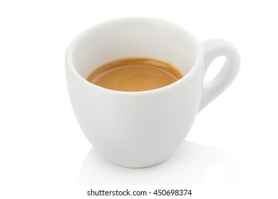 espresso with a perfect cream. Suitable for decoration of textbooks for a barista in a coffee shop and menu
