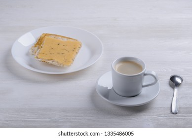 espresso with toast and cheese