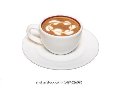 Espresso in white background,drink menu