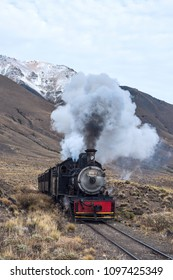 Esquel, Argentina - April 28, 2018: La Trochita,  the Old Patagonian Express, is a 750 mm (2 ft 5 12 in) narrow gauge railway in Patagonia