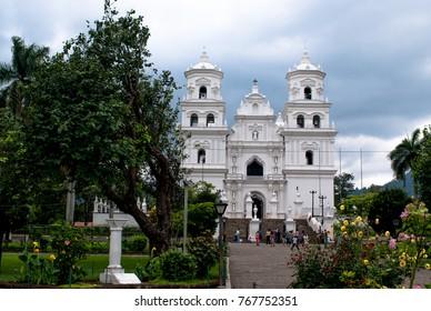 Esquipulas, Chiquimula Guatemala April 26, 2016  Baroque basilica of esquipulas, center of faith.