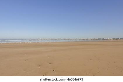 Essaouira ocean shore in Morocco. Northern Africa