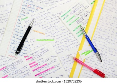 Essays in English language as a part of exam preparation