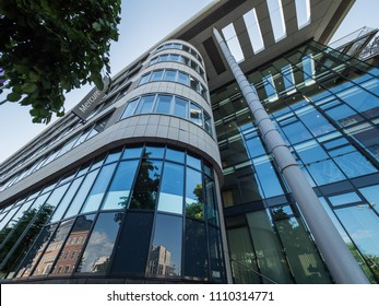 ESSEN, GERMANY - 30 May, 2018. Mercury Hotel in Essen. Modern architecture in the center of Essen. Germany