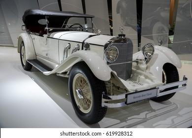 ESSEN, GERMANY - APR 6, 2017: a 1927 Mercedes Benz Type S W06 classic car at the Techno Classica Essen Car Show.