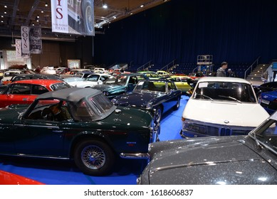 ESSEN, GERMANY - APRIL 10, 2019: Coys cars Auction overview