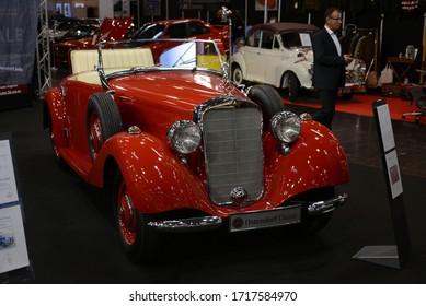 ESSEN, GERMANY - APRIL 10, 2019: 1937 Mercedes-Benz 230 N Roadster W143 classic old retro German 1930s car