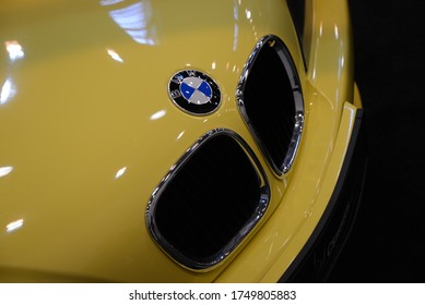 ESSEN, GERMANY - APRIL 11, 2019: BMW Z3 M Coupe original Dakar Yellow factory color car