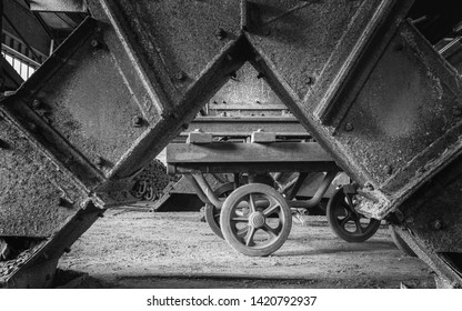 ESSEN, GERMANY - APRIL 7, 2019: Detail image of Zeche Zollverein, industrial heritage of Germany on April 7, 2019 in Essen