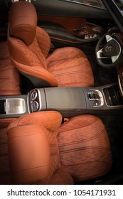 Essen, Germany, March 23, 2018; Essen Techno Classica 2018. 2018 Maybach S650 cabriolet interior.