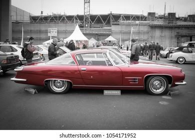 Essen, Germany, March 23, 2018; Essen Techno Classica 2018. 1961 Ghia L6.4 coupe.