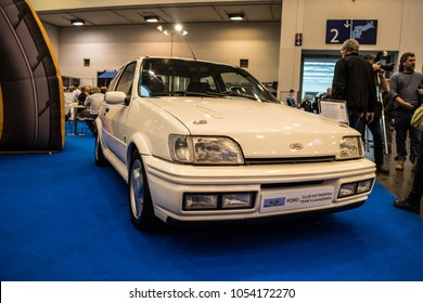 Essen, Germany, March 23, 2018; Essen Techno Classica 2018. Ford Fiesta Rs Turbo Mark III