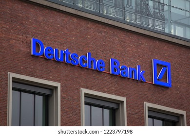 essen, North Rhine-Westphalia/germany - 18 10 18: deutsche bank sign in essen germany