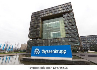 essen, North Rhine-Westphalia/germany - 22 11 18: thyssenkrupp quartier headquarters in essen germany