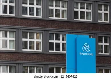 essen, North Rhine-Westphalia/germany - 22 11 18: thyssenkrupp quartier headquarters in essen germany