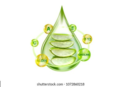 essential oil from aloe vera serum with vitamin and nutrition