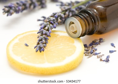 Essential oil, lemon and lavender