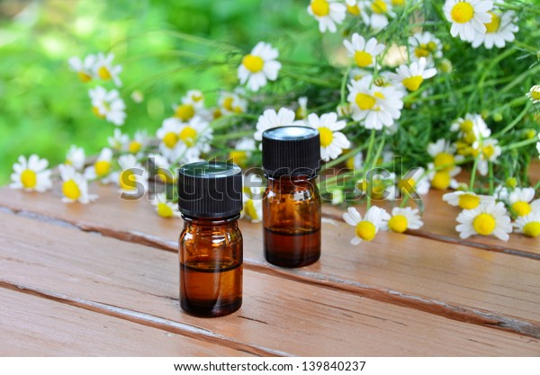 essential oils with chamomile flower