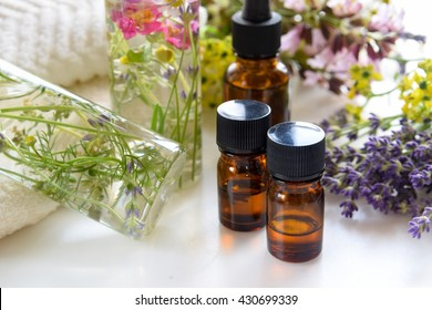 essential oils with natural cosmetics