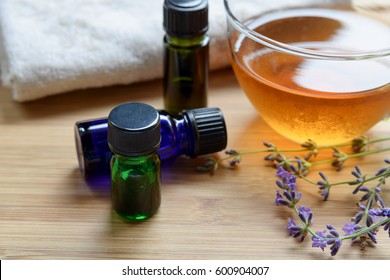 essential oils and tea for aromatherapy salon