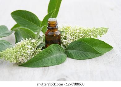 essentials oils in bottle