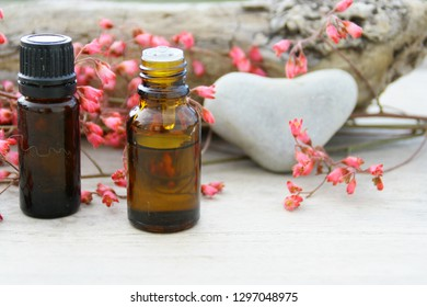 essentials oils of pink  flowers