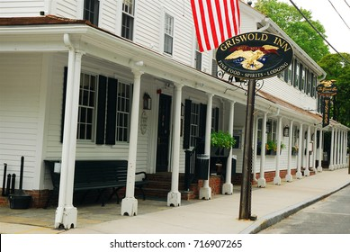 Essex, CT, USA May 17, 2009 Opened in the 18th Century, The Griswold Inn in Essex, Connecticut is said to be the oldest continuously run tavern in the United States.