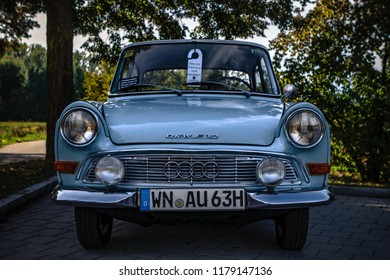 Esslingen, Germany - September 9, 2018: DKW F12 oldtimer car at the 3rd Oldtimer meeting event in Zell am Neckar.