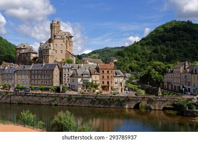 ESTAING, FRANCE, June 19, 2015 : Estaing is considered as one of the most picturesque villages in France, and is famous for its castle.