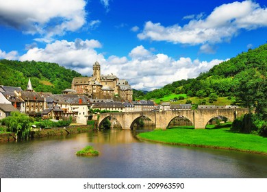 Estaing -  one of the most picturesque villages in France.