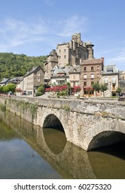 Estaing Village in Southern France, portrait view