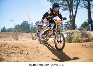 ESTARREJA, PORTUGAL - MAY 16, 2015: Goncalo Carvalho during the Taca de Portugal Bmx.