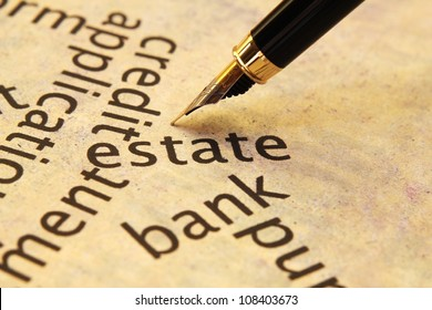 Estate and bank concept