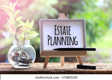 Estate Planning - business concept words on canvas