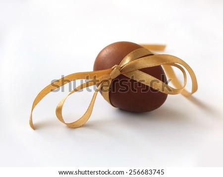 8c2a1c823e9 Ester Egg Golden Ribbon Easter Greeting Stock Photo (Edit Now ...
