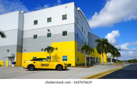 ESTERO, FL -30 JAN 2020- View of the Hertz Arena, a multipurpose arena located in Estero, Florida, United States, near Fort Myers. It is the home of the Florida Everblades of the ECHL.