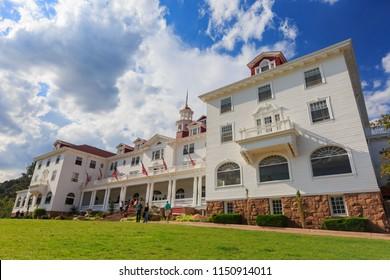 Estes Park, AUG 9: The historical Stanley Hotel on AUG 9, 2014 at Estes Park, Colorado
