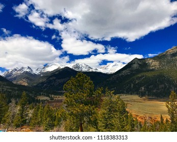 Estes Park, Colorado / United States-  April 25, 2018:  Rocky Mountain National Park