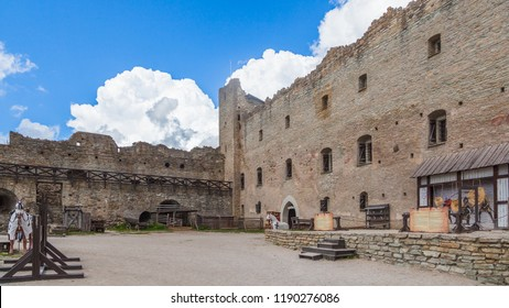 ESTONIA - 5, JULY, 2018: Inner courtyard in the medieval fortress of Rakvere, circa 2018