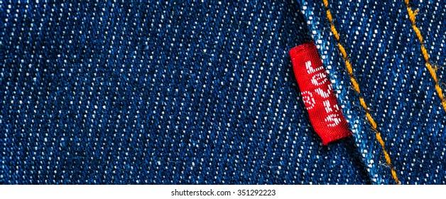 Levis Jeans Emblem Selective Focus