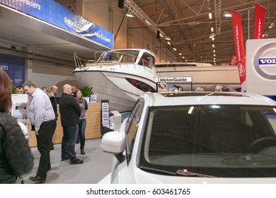 ESTONIA. TALLINN. MARCH 17-19, 2017: Tallinn Boat Show in Estonian Fairs Center.