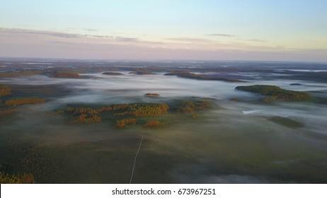 Estonian Bog (Sunrise, Drone Photography, Aerial Photos)
