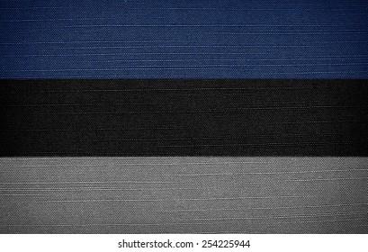 Estonian fabric flags