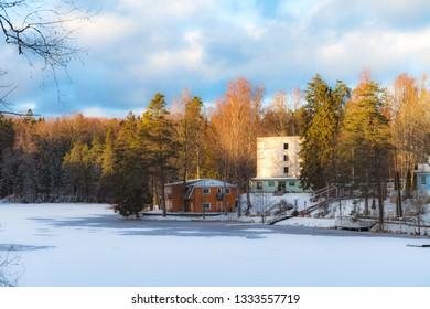 Estonian winter countryside.