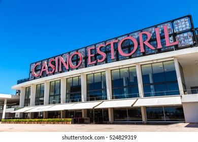 ESTORIL, PORTUGAL - JUNE 21, 2016: Facade of the Casino Estoril in Estoril city in a beautiful summer day, Portugal on June 21, 2016